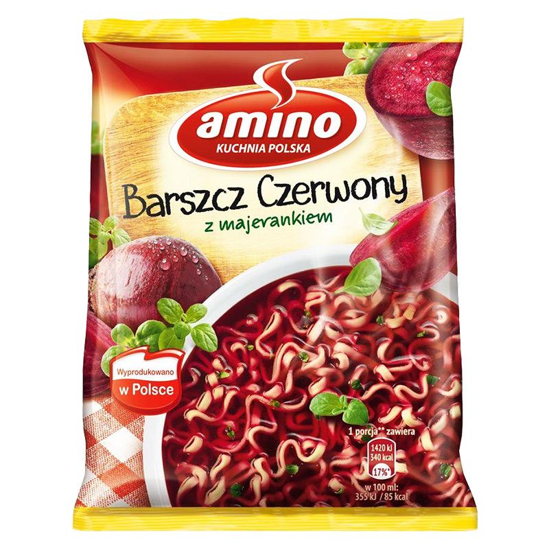 Barszcz czerwony, även borsjtj, är en polsk rödbetssoppa med mejram. Snabbt och enkelt att tillaga.