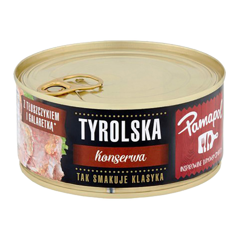 Tyrolska en slags polsk sylta. Den är perfekt för en snabb, enkel och välsmakande måltid. Serveras kall till bröd.