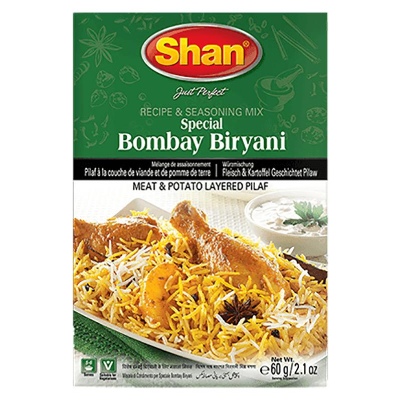 Risrätt varvad med kött och potatis. Shan Bombay Biryani-mix hjälper dig att återskapa den autentiska traditionella smaken av Bombay Biryani som är ett sant arv från det subkontinentala köket.