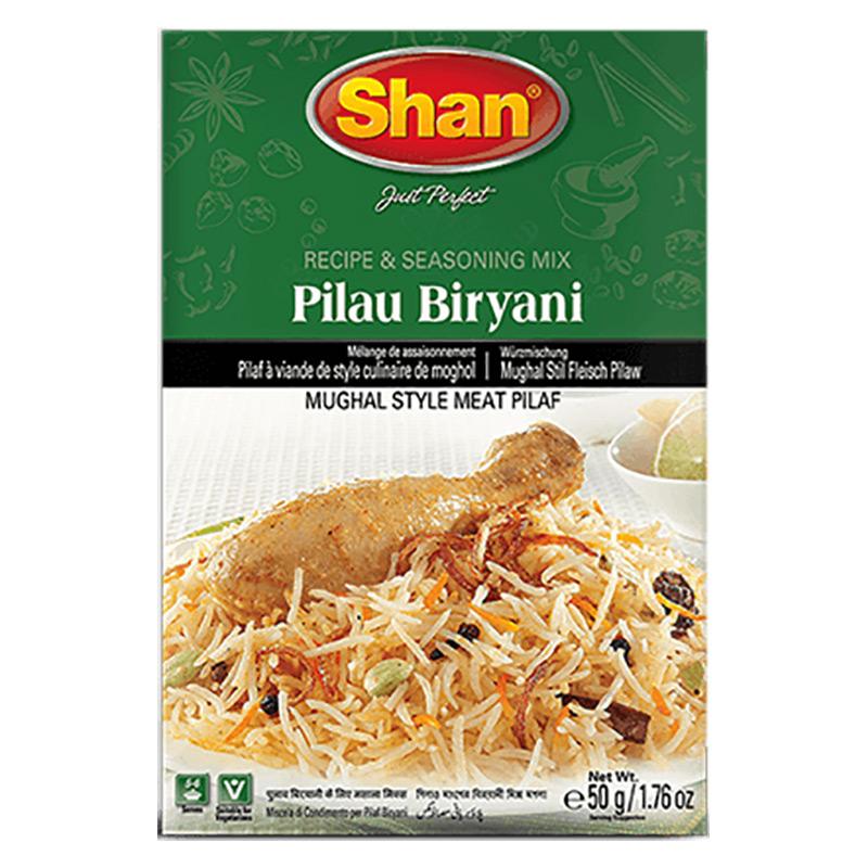 Pilaff, eller pilau, En risrätt på Moguliskt sätt. Shan Pilau Biryani kryddmix har en perfekt blandning av rika och aromatisk kryddor som hjälper dig att förbereda den perfekta twisten av biryani och