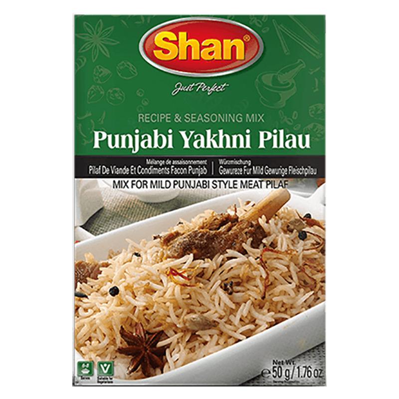 Kryddmix för köttpilaff från Punjab. Shan Punjabi Yakhni Pilau Mix hjälper dig att återskapa den autentiska traditionella smaken av Yakhni Pilau som är det sanna arvet från Punjabiköket.
