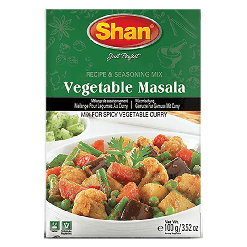Kryddmix till kryddig grönsakscurry. Shan Vegetable Masala Mix hjälper dig att förbereda utsökt grönsakscurry till din dagliga måltid.