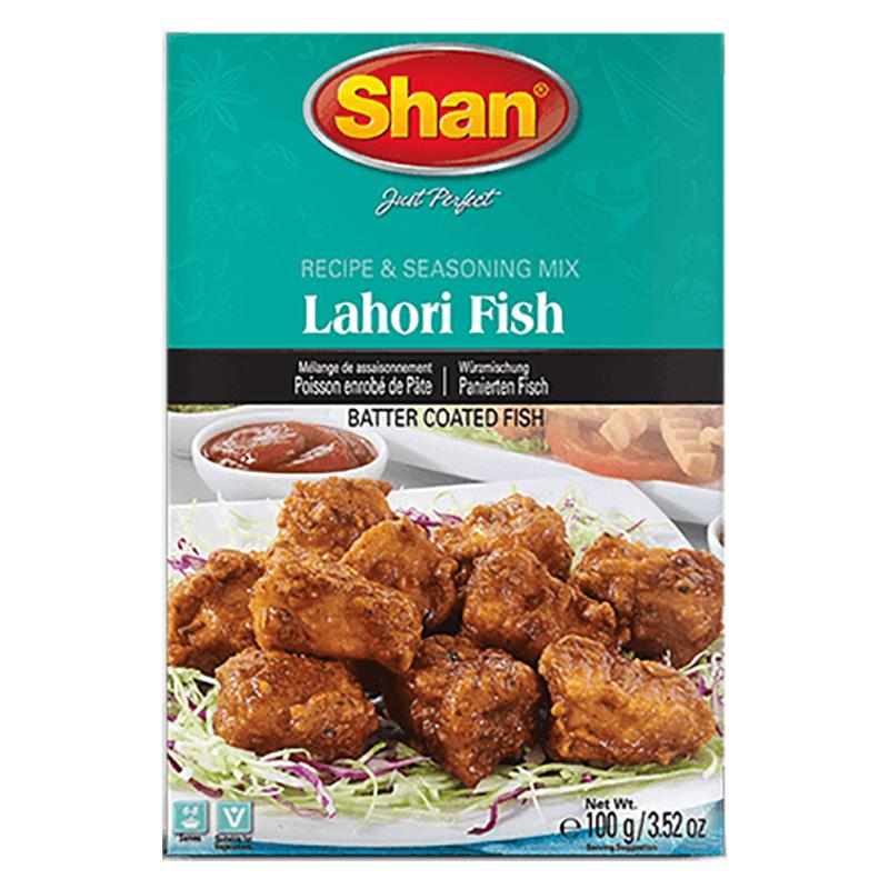 Lahori Fish är panerade fiskpinnar. Shan Lahori Fish Mix har en perfekt blandning av rika och aromatiska kryddor som ger dig den exotiska smaken av stekt fisk från Lahores gator.