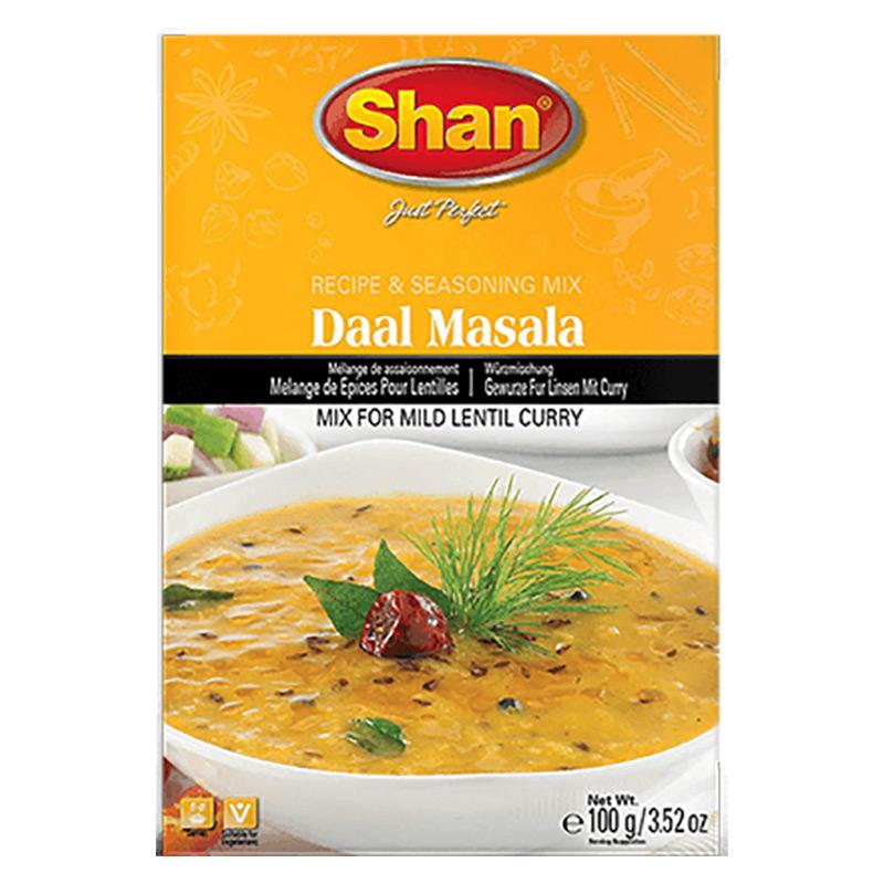 Daal Masala en läcker mild linsgryta full med smaksättare. Shan Daal Masala har den perfekta blandningen av kryddor som hjälper dig att förbereda rik, smakfull och krämig linscurry för en lätt och häl