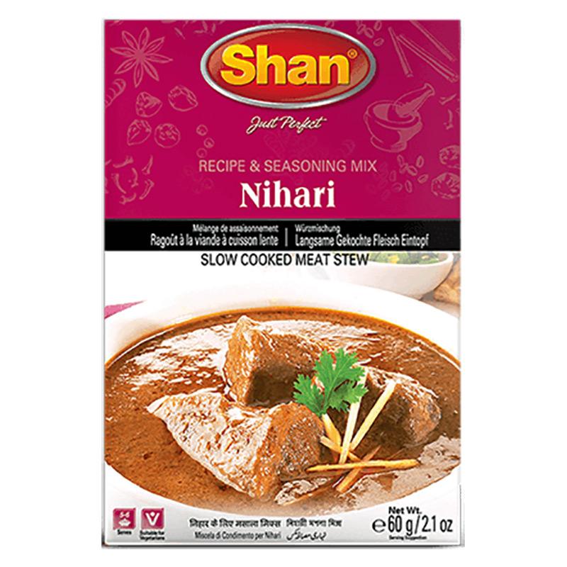Nihari är en populär köttgryta från den norra delen av den indiska subkontinenten och består av långkokt kött. Eftersom den är rätt tung passar den utmärkt under hösten och vintern. Med Shan Nihari kr