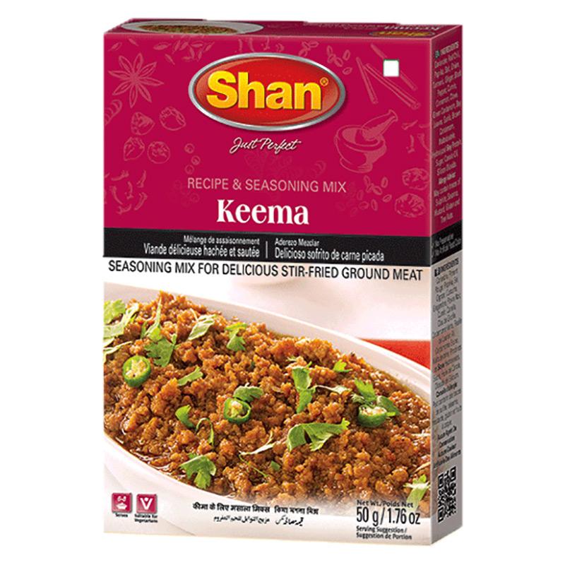 Keema är en läcker indisk köttmaträtt. Shan Keema Mix hjälper dig att skapa det utsökta stekta köttet till perfektion hemma.