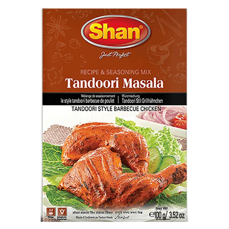 Tandoori Masala är en kryddmix för grillad kyckling. Med sin spännande blandning av rika kryddor och smaker hjälper Shan Tandoori Masala Mix dig att återskapa den traditionella grillupplevelsen hemma.