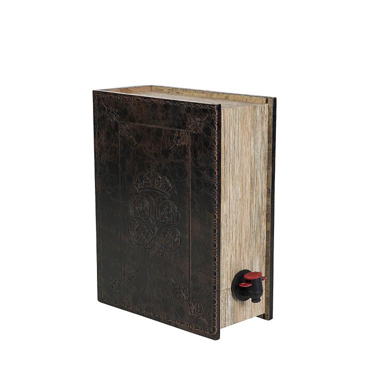 Vinbox Boklåda Läder