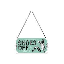 Plåtskylt Shoes Off