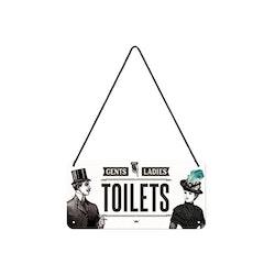 Plåtskylt Toilets