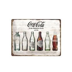 Plåtskylt Coca-Cola Timeline 30*40