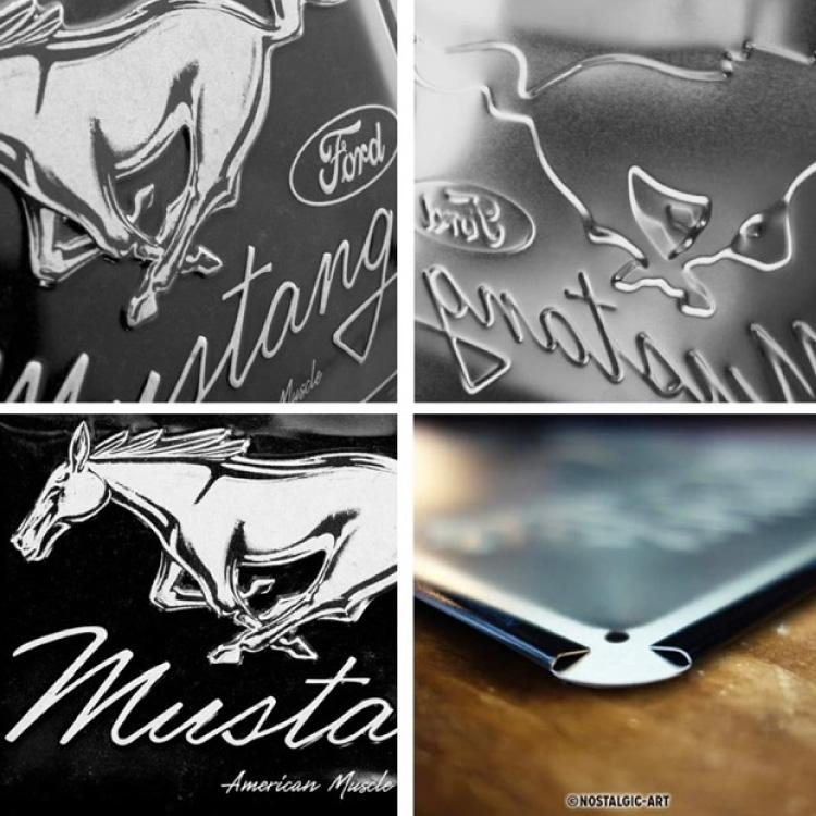 Plåtskylt Ford Mustang Horse Logo