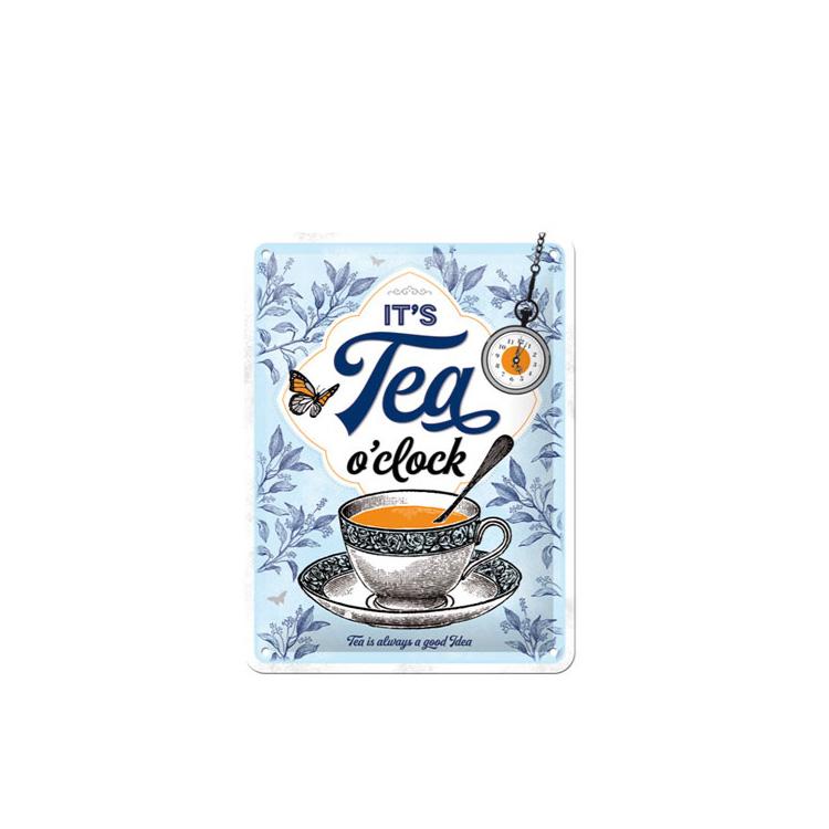 Plåtskylt Tea O´Clock