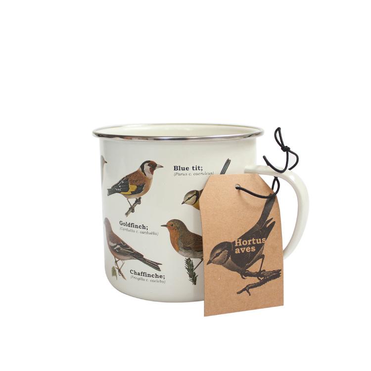 Emaljmugg Garden Birds