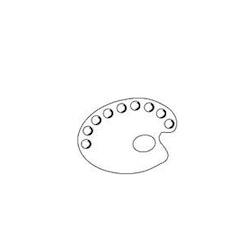 Plastpalett P185. Oval. 20*30 cm