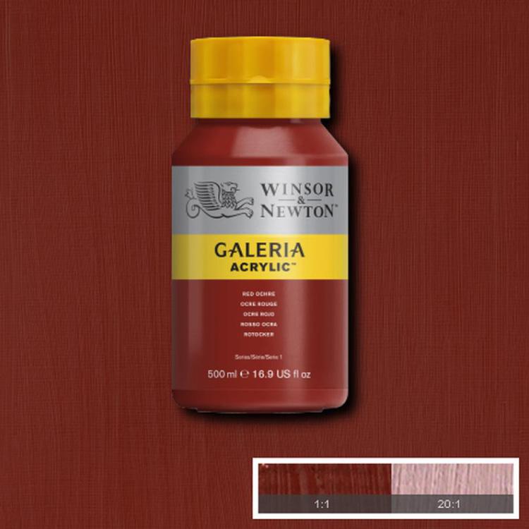 Akrylfärg W&N Galeria Red Ochre, 500ml
