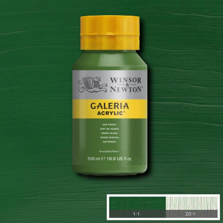 Akrylfärg W&N Galeria Sap Green, 500ml