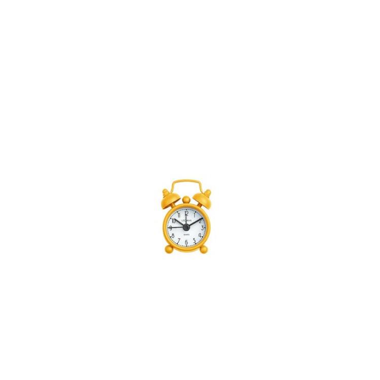 Mini Väckarklocka Tick-Tock Gul