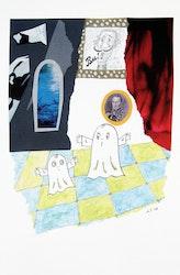 Litografi Laban och Labolina i slottskammaren