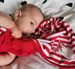 Babyfilt Laban, röd
