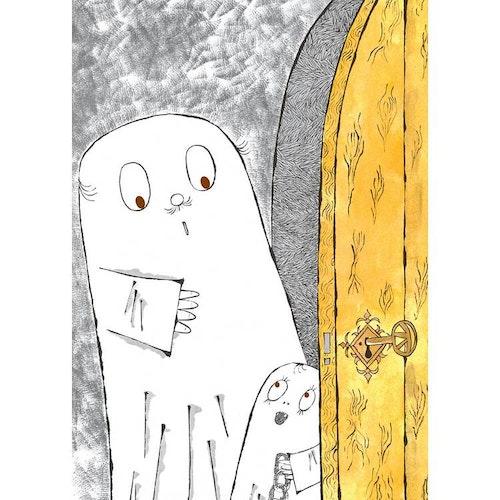 Vykort Laban och Spökpappan