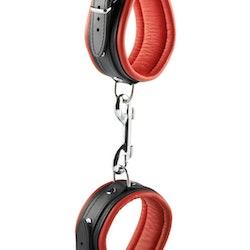 Hidden Desire, ankle cuffs, röd/svarta