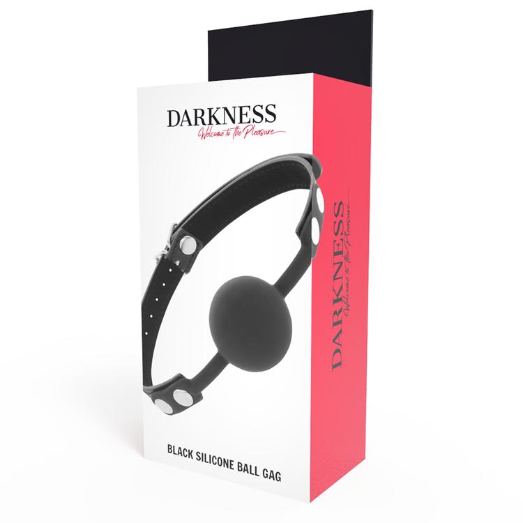 Darkness, ball gag i silikon, svart