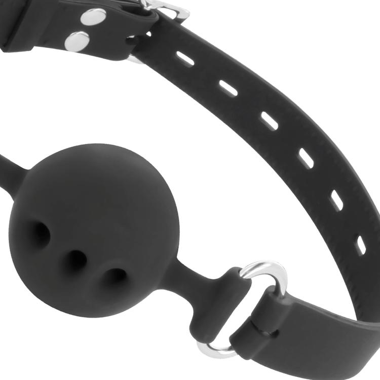 Darkness, breathable ball gag i silikon
