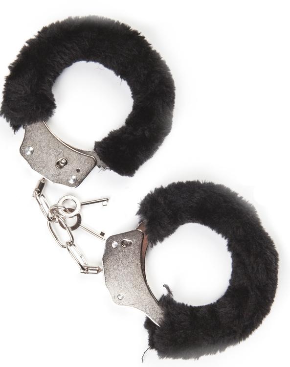 Mai No.38, metal furry handcuffs, svarta