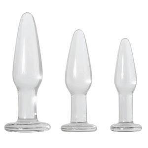 Kit, tre fina pluggar i glas