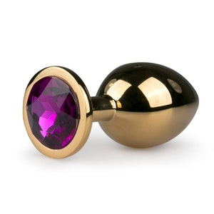 Easy Toys, Metal butt plug No. 2 - Gold/Purple