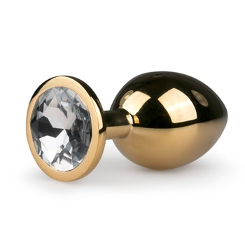 Easy Toys, Metal butt plug No. 2 - Gold/Clear