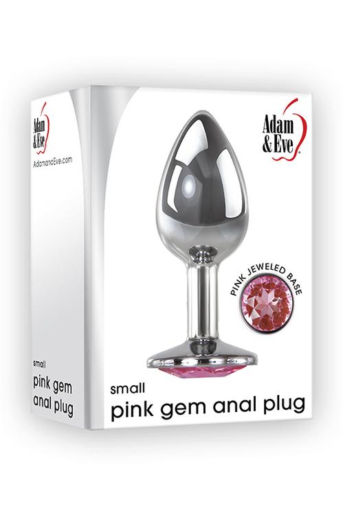 Adam & Eve, analplugg med rosa kristall, small