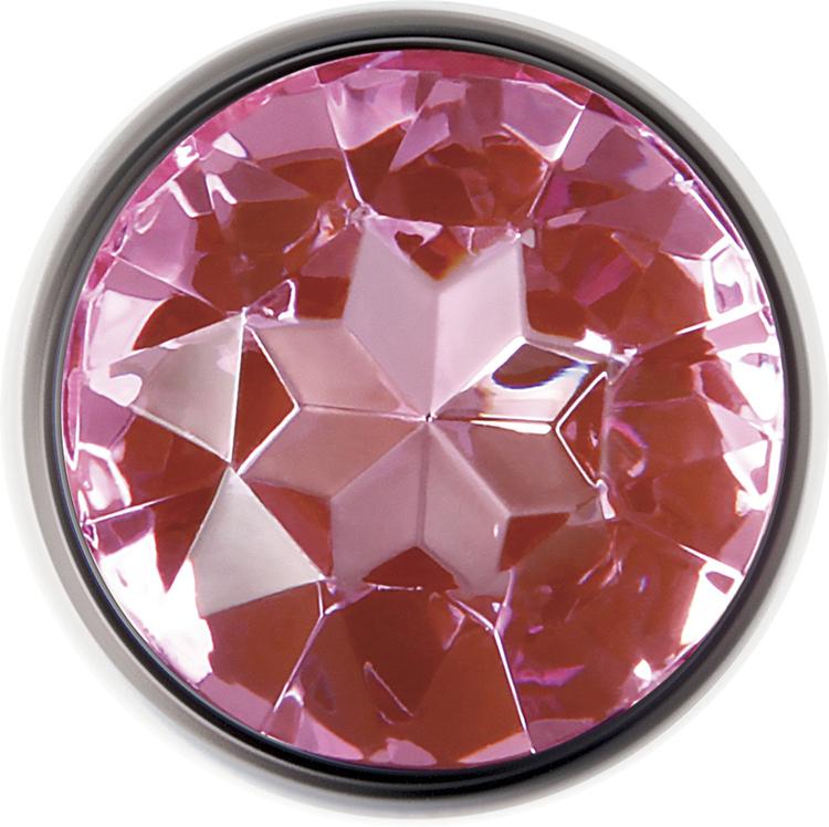 Adam & Eve, analplugg med rosa kristall, large