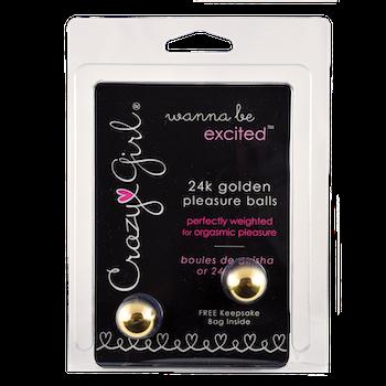 Pleasure balls, guldpläterade 24K