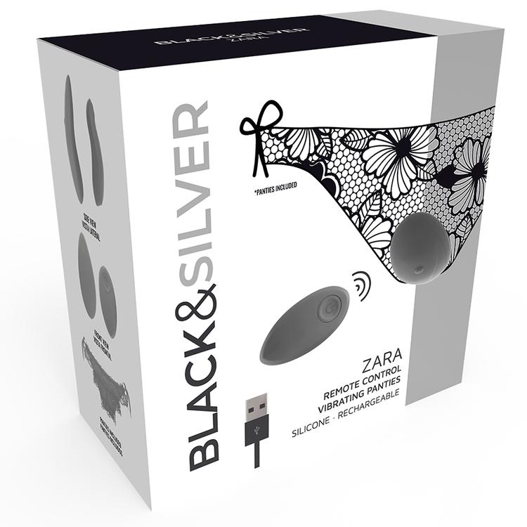 Black & Silver, Zara, trosor med fjärrstyrd vibrator