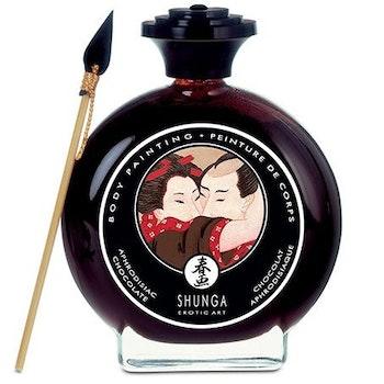 Shunga, Body painting chocolate