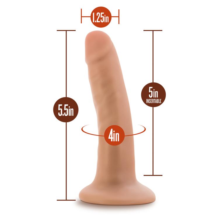 Dr. Skin 5,5 inch, dildo med sugkopp