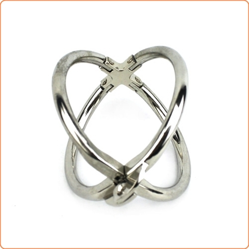 Ellipse Stainless Steel Cross Cuffs