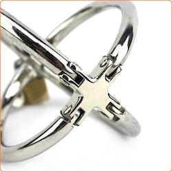 Ellipse Stainless Steel Cross Cuffs