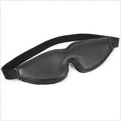 Fodrad ögonbindel i PU-läder