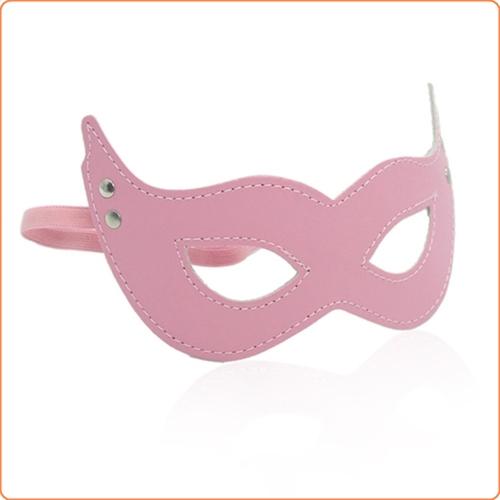 Masquerade Costume Mask, röd, svart, rosa