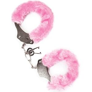 Mai No.38, metal furry handcuffs, rosa