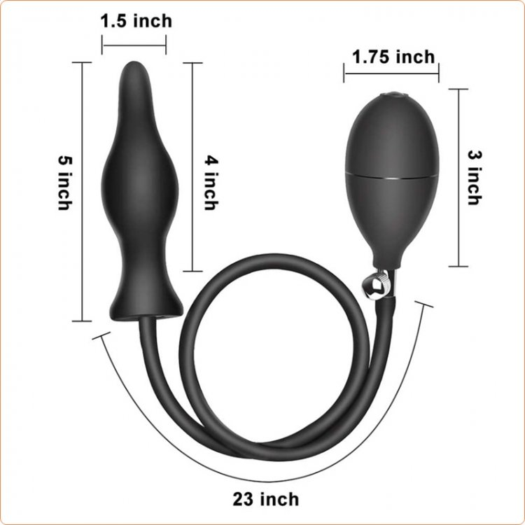 Dark Inflator Silicone Inflatable Anal Plug
