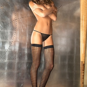 Quarter Crochet Net Thigh Highs