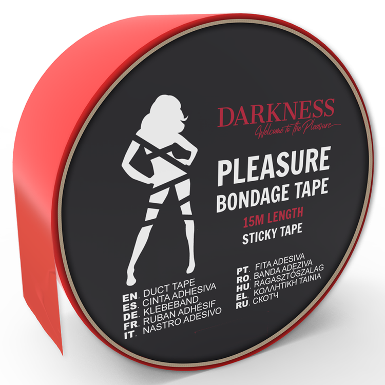 Darkness, sticky tape 15 m, röd