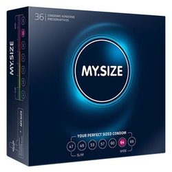 MY SIZE NATURAL LATEX CONDOM 64 WIDTH 36 PCS