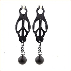 Deviant Monarch Weighted Nipple Clamps, svarta