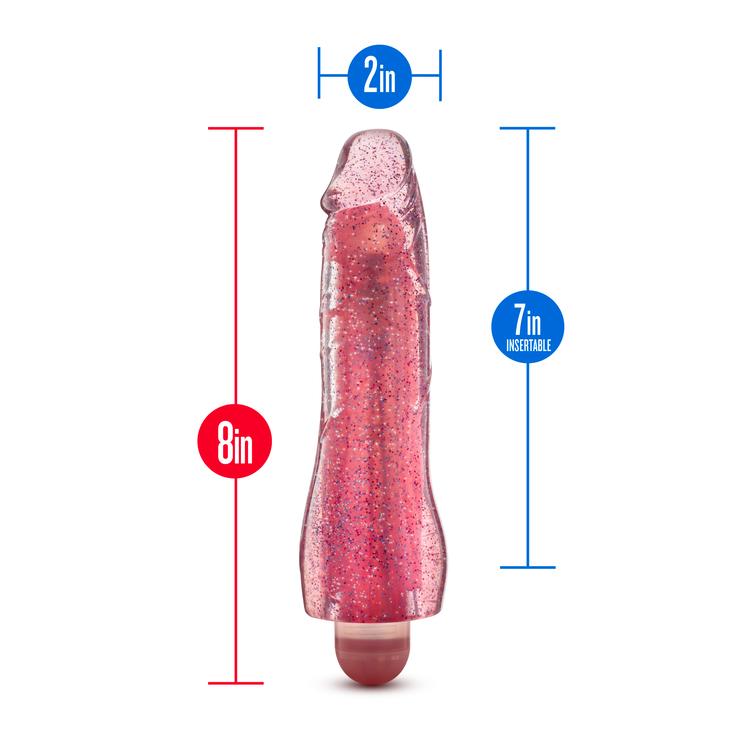 Molly glitter vibrator, rosa