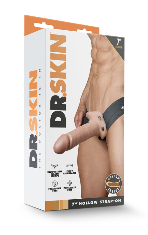 DR. SKIN 7INCH HOLLOW STRAP ON